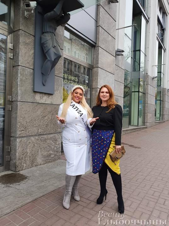 Фото с сайта lady.tut.by Национальный директор конкурса в Беларуси Евгения Тюленева и представительница Латвии Екатерина Лаздовская