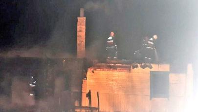 В Глубокском районе на пожаре погибла пенсионерка