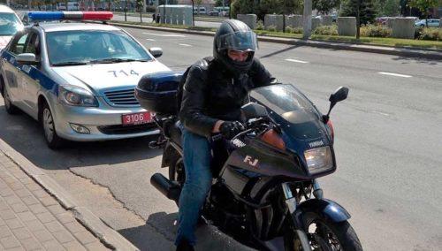 мотоциклист и гаи