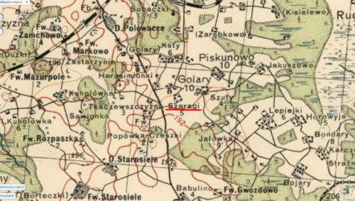 Фрагмент старой карты