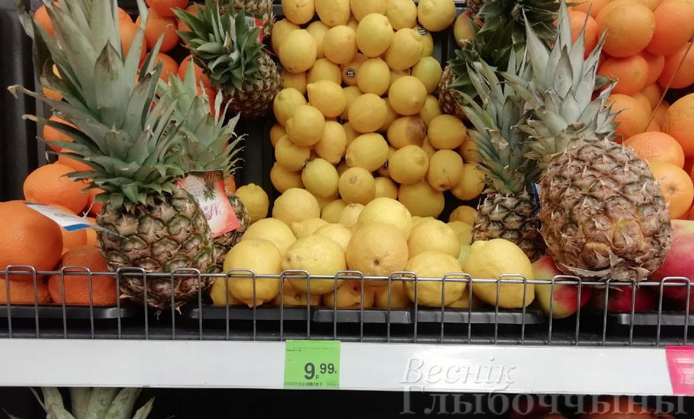 Магазины в Глубоком: подорожали лимоны и имбирь