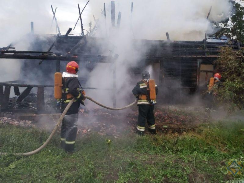 Пожар в Глубокском районе