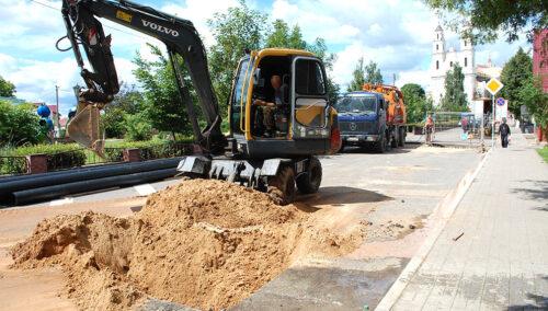 В Глубоком ведутся работы по модернизации водопроводной сети