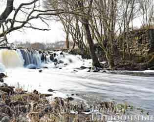 Фото водопада на реке Аржаница в Глубокском районе