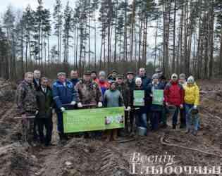 К акции «Неделя леса» присоединился руководящий состав Глубокского района