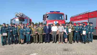 Председатель райисполкома поздравил спасателей Глубокского РОЧС с Днем пожарной службы